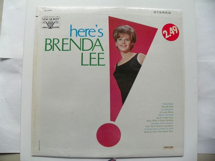 HERE'S BRENDA LEE LP 33 SHRINK DECCA VOCALION RECORDS VL73795 NM 1960 #SoftRock
