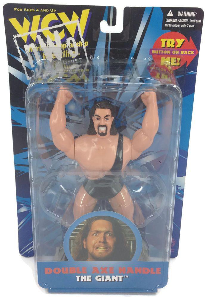 "1998 WORLD CHAMPIONSHIP WRESTLING WCW NWO 7"" THE GIANT DOUBLE AXE HANDLE FIGURE #TimeWarnerCompany"
