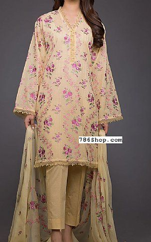 4d7582e3c0 Cream Swiss Lawn Suit | Buy Bareeze Pakistani Dresses and Clothing online  in USA, UK