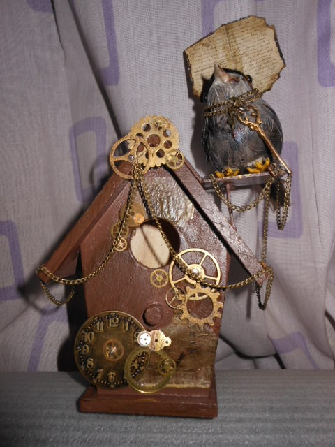 Steampunk Birdhouse for my friend Marc