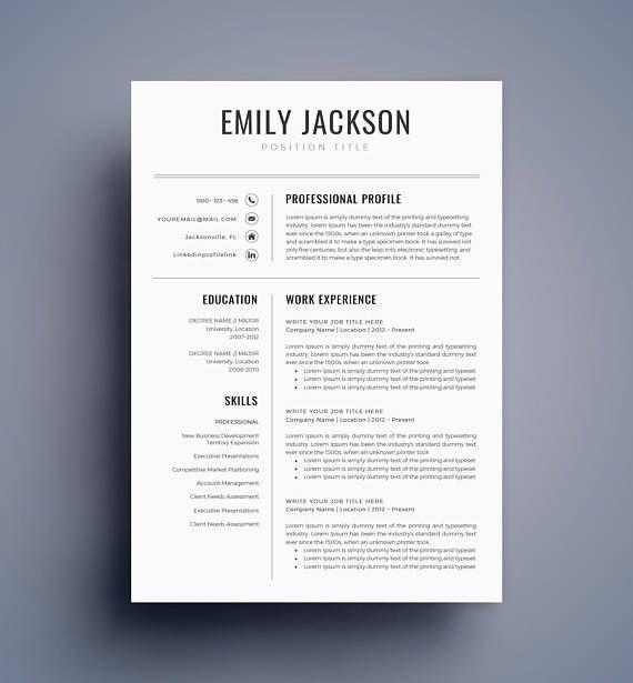 Resume Template Cv Template Professional Resume Template Etsy Resume Template Professional Resume Template Cv Template