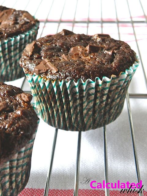 Double Chocolate Zucchini Muffins (Gluten free, Paleo) - A Calculated Whisk