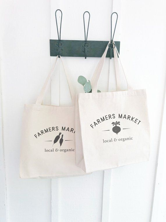 Canvas Farmers Market Tote Bag Gardening Gifts For Women Reusable Grocery Bag Shopping Bags Host Farmers Market Tote Bag Market Tote Bag Market Tote
