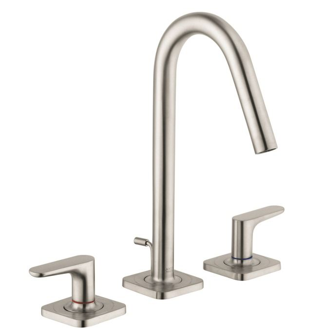 Photo On Hansgrohe Axor Brushed Nickel Citterio M Bathroom Faucet Widespread Faucet with Lever Handles Mega Supply Store
