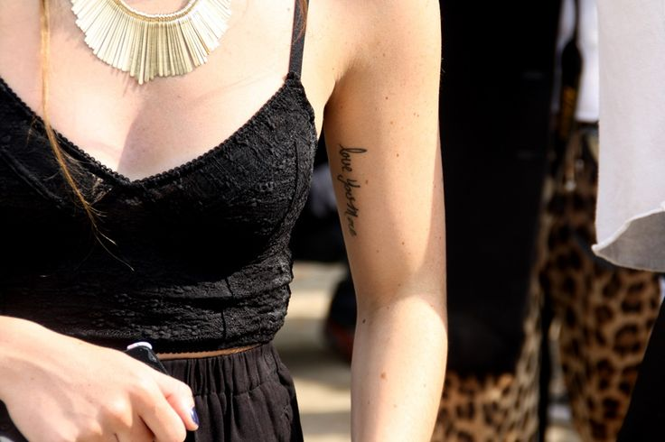 Tattoo inspiration. Paris Fashion Week Streetstyle, by Lois Spencer-Tracey of Bunnipunch