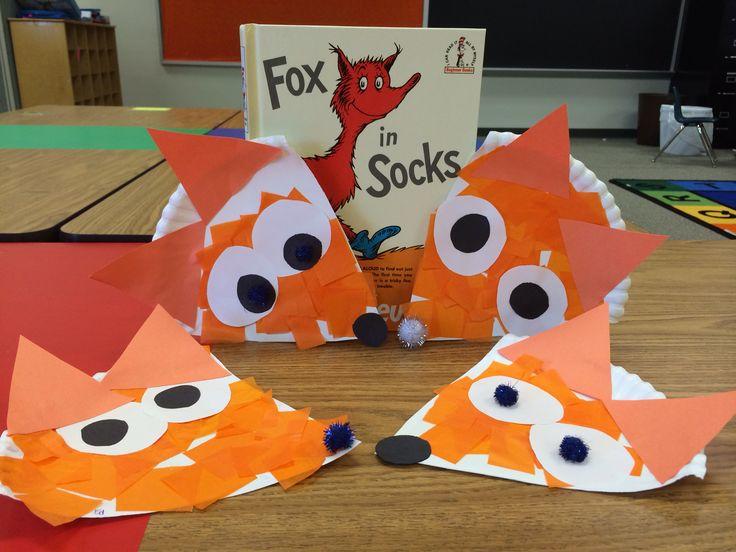 Fox in Socks Paper Plate Craft