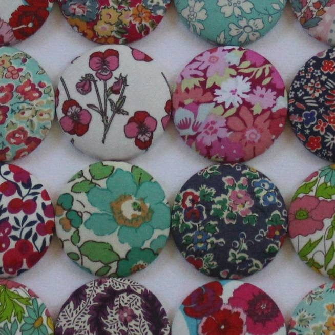 Liberty print covered buttons