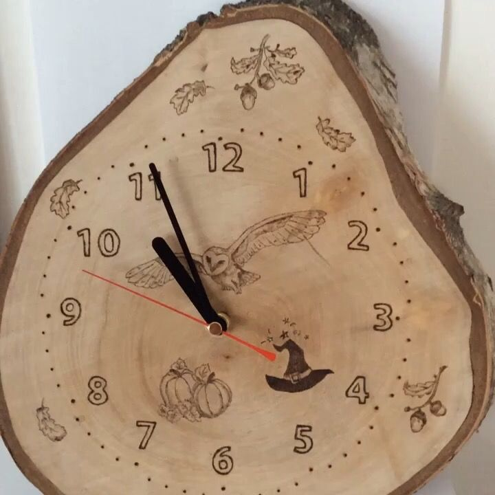 Pyrography clock 82 best My Pyrography images