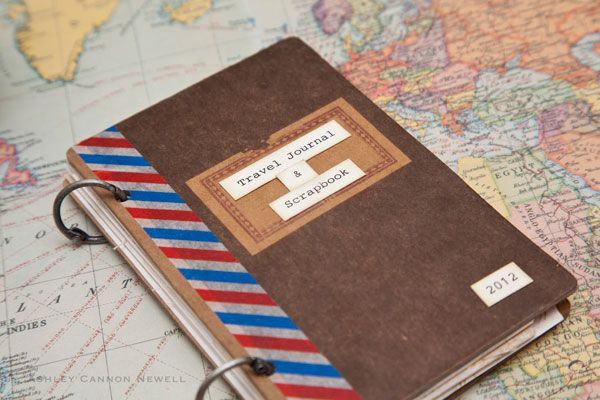 A New Design blog » Paper Crafting Ideas by Ashley Cannon Newell -- Mini Travel Journal/Scrapbook