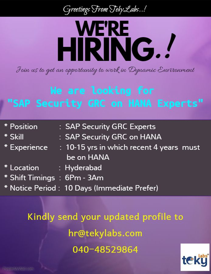 Sap Security Grc Job Sap Security Positivity