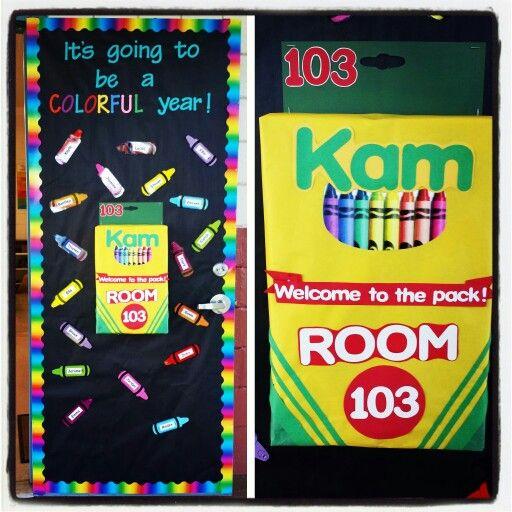 Crayon theme door