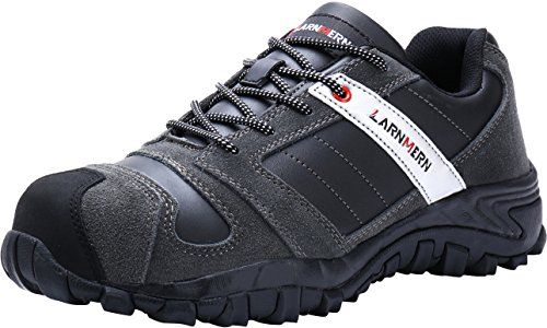 93a09fa1782 LARNMERN Work Shoes For Men, LM-18 Men's Steel Toe Safety Shoes ...