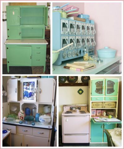 A Beautiful collection of 1950's kitchen cabinets.