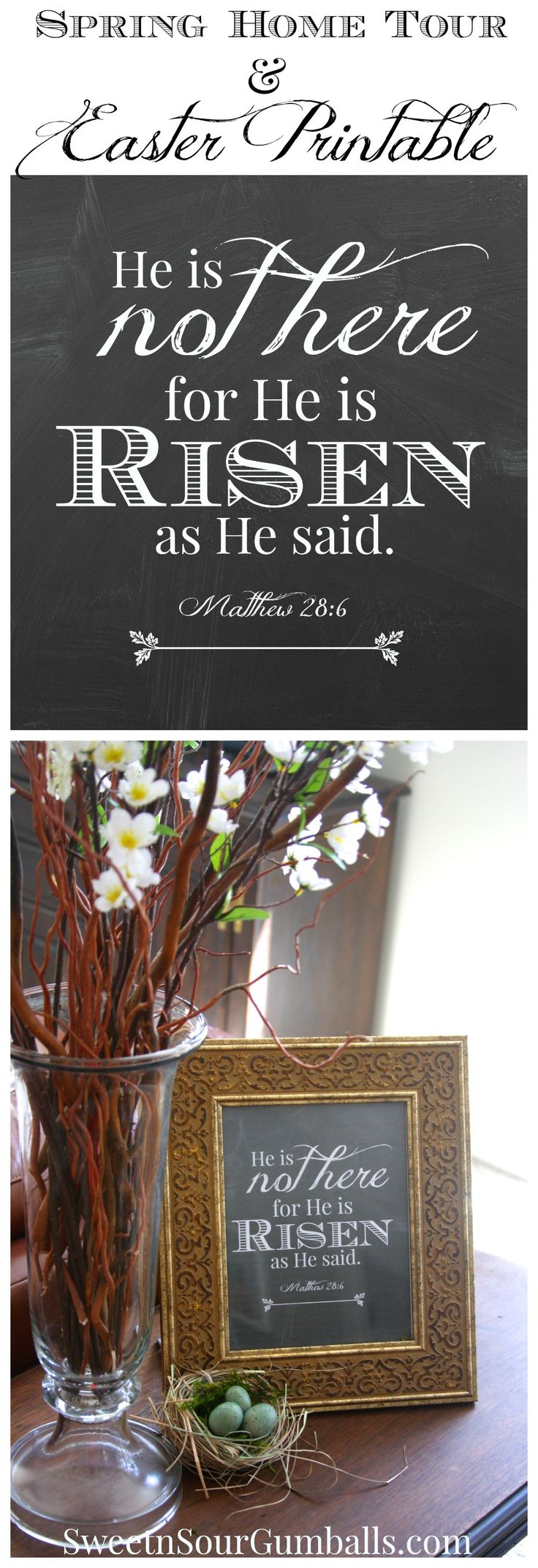 Christian easter decorations for the home - Spring Home Tour And 2 Free Printables To Use For Your Easter Decorating