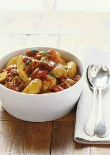 Pommes de terre aux poivrons et au chorizo