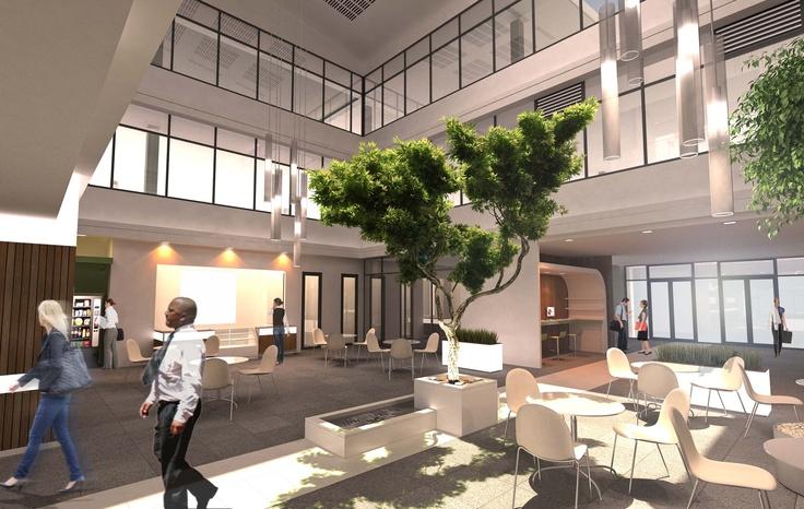 Umhlanga Business Centre Atrium and cafe area