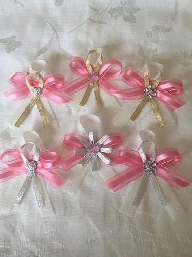 Baby Shower Corsage Capias Bling Silver Gold Princess Crown Heart