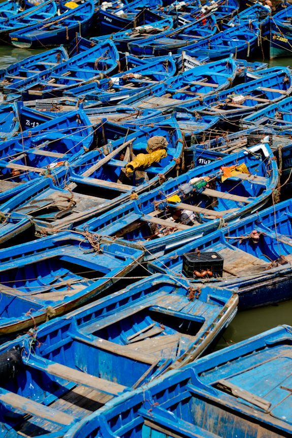 Fishing boats in Morocco