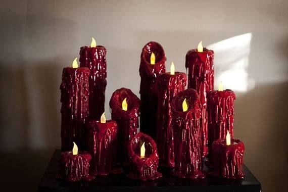 Velas artesanais vermelhas