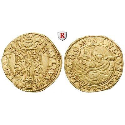 Vatikan, Julius II., Fiorino di camera o.J., f.vz/ss+: Julius II. 1503-1513. Fiorino di camera o.J. Rom. Wappen im Vierpass / St.… #coins