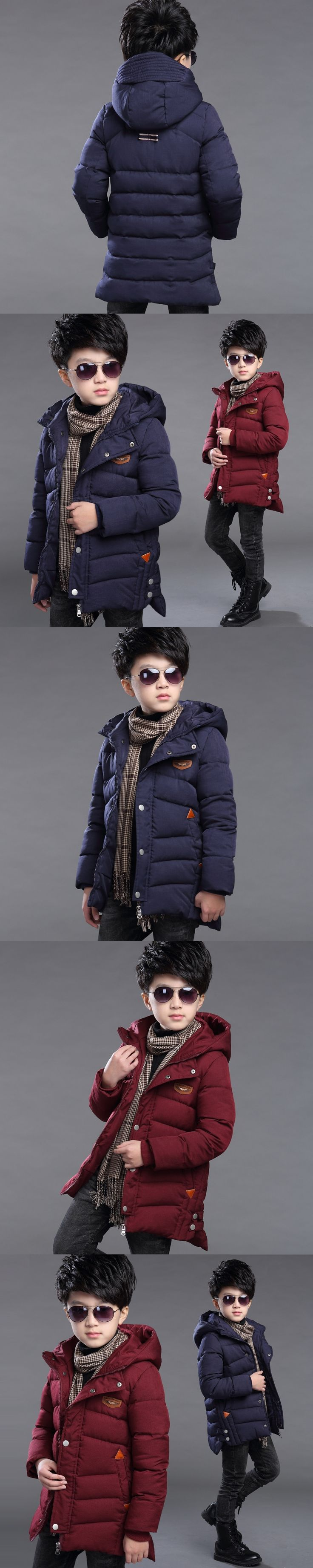Boys Winter coat 2017 New Winter Boy's Warm wadded Jackets children Coat thick cotton-padded jacket Kid jacket Outerwears Hooded