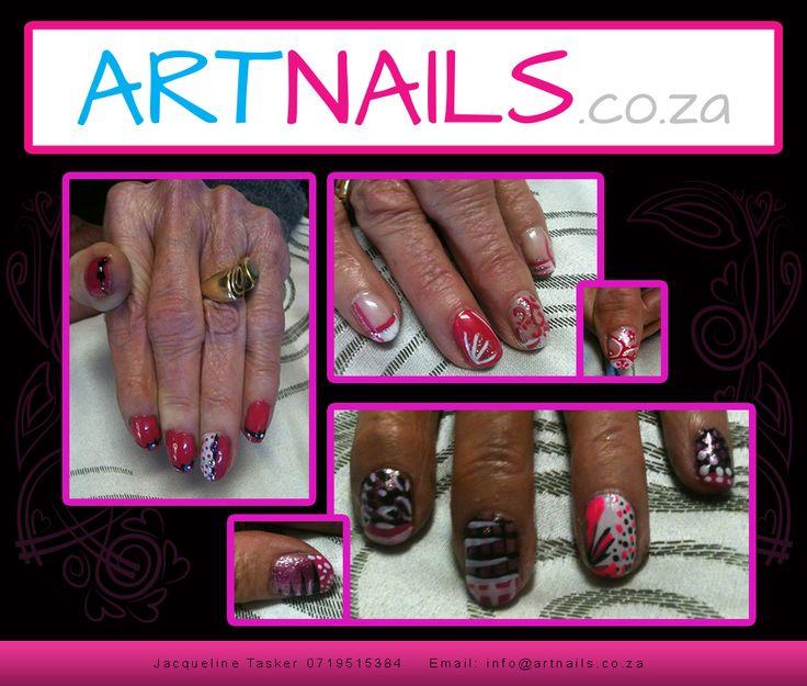 acrylic overlay onto natural nail custom cool pink nail art designs