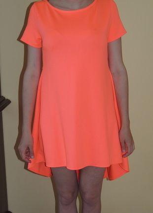 Kup mój przedmiot na #Vinted http://www.vinted.pl/kobiety/krotkie-sukienki/9656314-neon-pomaranczowa-asymetryczna-sukienka