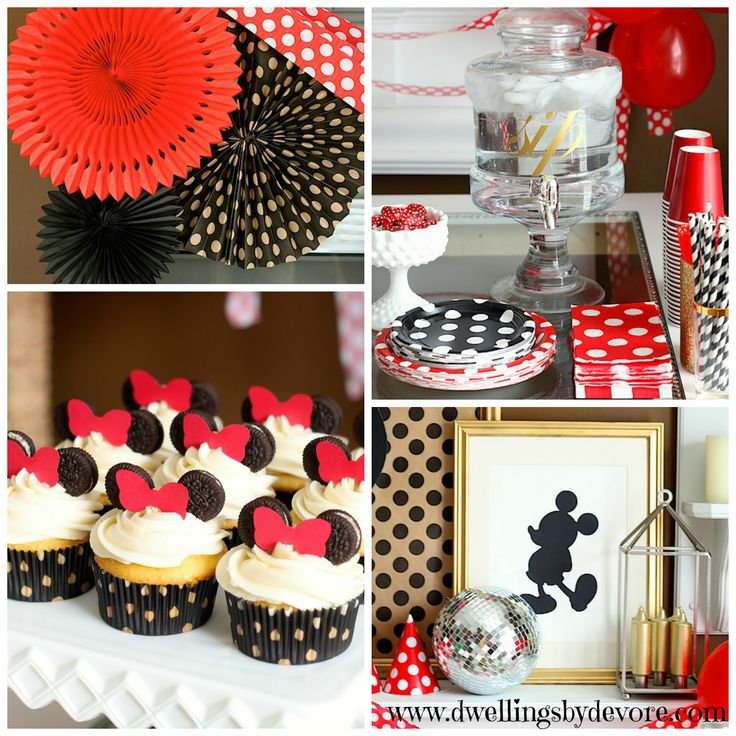 Vintage Mickey & Minnie Mouse Birthday Party