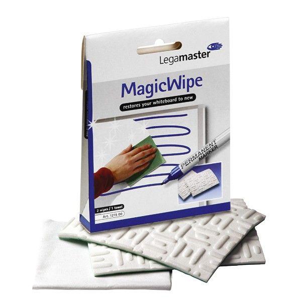 Legamaster MagicWipe. Spezielle für stark verschmutzte Whiteboardoberflächen, einfach mit Legamaster Whiteboard-Reiniger befeuchten. Farbe: Weiß. Material: Mikrofaser. Entfernt auch Permanent Marker Tinte, waschbar bei 60°
