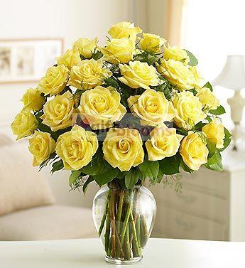 Happy birthday mom yellow roses