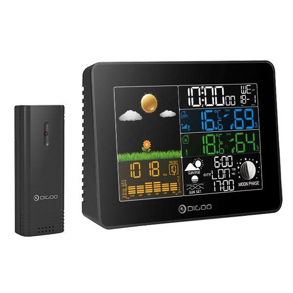 Digoo-DGTH8868БеспроволочныйполноцветныйэкранAutomic Цифровой USB с подсветкой На открытом воздухе Гигрометр метеорологической ст