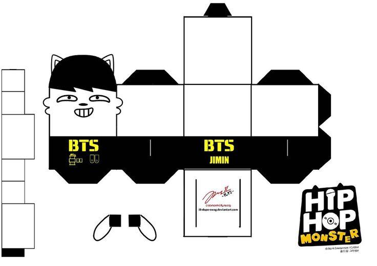 BTS Hip Hop Monster Jimin Papercraft by ill-dope-swag.deviantart.com on @DeviantArt