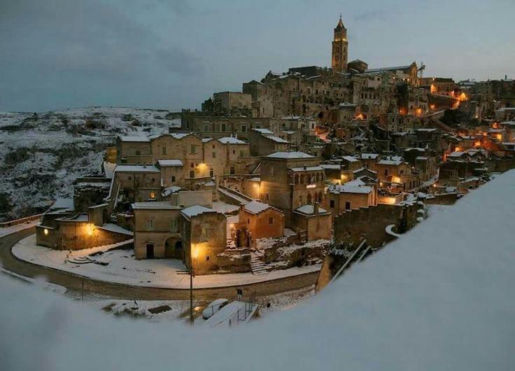 I Sassi innevati, Matera, Basilicata