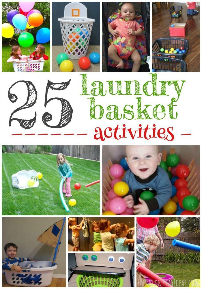 Boredom busting laundry basket games for preschoolers and toddlers!