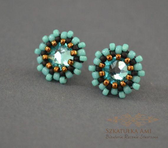 CHRISTMAS SALE Thumbnails turquoise crystal by SzkatulkaAmi