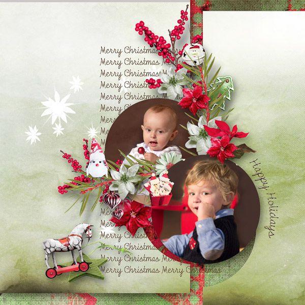 Holly Jolly Christmas template MCrea-freebie