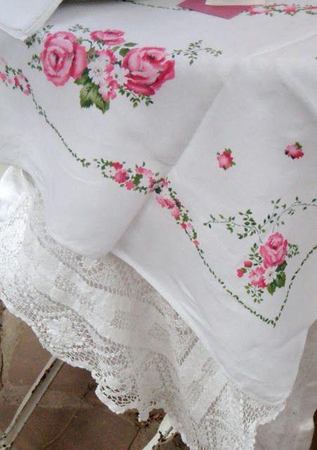 Linen and lace.  So pretty.