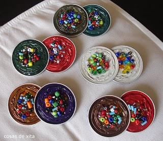 nespresso decorades amb boles de braçalets