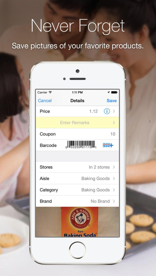 Grocery Gadget Shopping List - shop groceries scan sync share with family track prices save or use as checklist. by Pingwell Inc gone Free