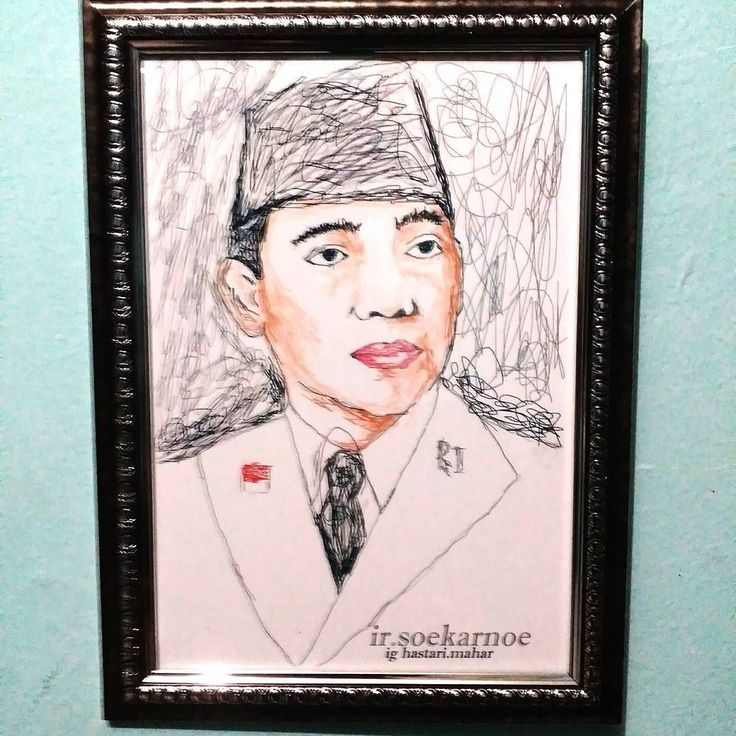 #draw #drawing #igers #photooftheday #seni #art_likeforlike #artwork #kado #mozaik #sketsa #scribble #scribbleart #bogor  #unik #indonesia #art #jawabarat #presiden #president #soekarno #pahlawan #artofdrawing #image #doodle #paint #paints #instagram #instagood #liker by hastari.maharhias