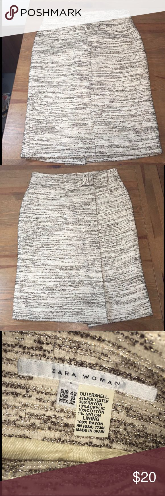 Zara Woman Dress - Size: 10 Guaranteed authentic item and a must have item! We are unable to model items or take sales to PP. Willing to negotiate using the offer button. No trades. Happy Poshing! Zara Skirts