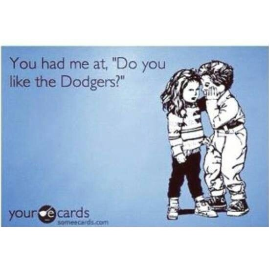 This totally reminds me of my bf <3 We drive from Portland to LA once a year to see a game at Dodger Stadium. We even saw them in Seattle and saw Ethier hit a grand slam! =)