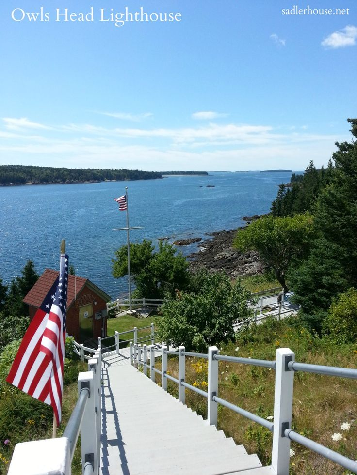The view from the top of the Owls Head Lighthouse stairs on a gorgeous, sunny day. This is one of the prettiest spots in the midcoast, in my opinion!
