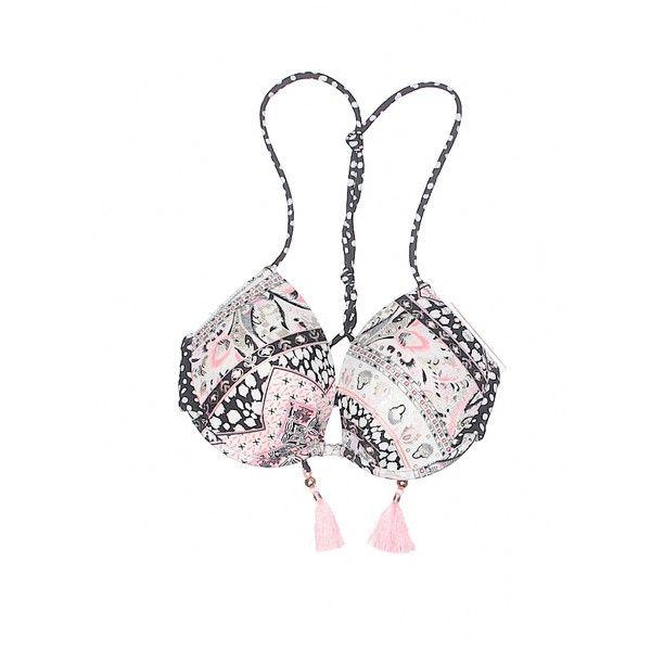 Victoria's Secret Swimsuit Top ($17) ❤ liked on Polyvore featuring swimwear, bikinis, bikini tops, black, swimsuit tops, victoria secret bikini top, swim tops, victoria secret swim wear and victoria secret beachwear