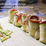 Involtini di zucchina con salame piccante