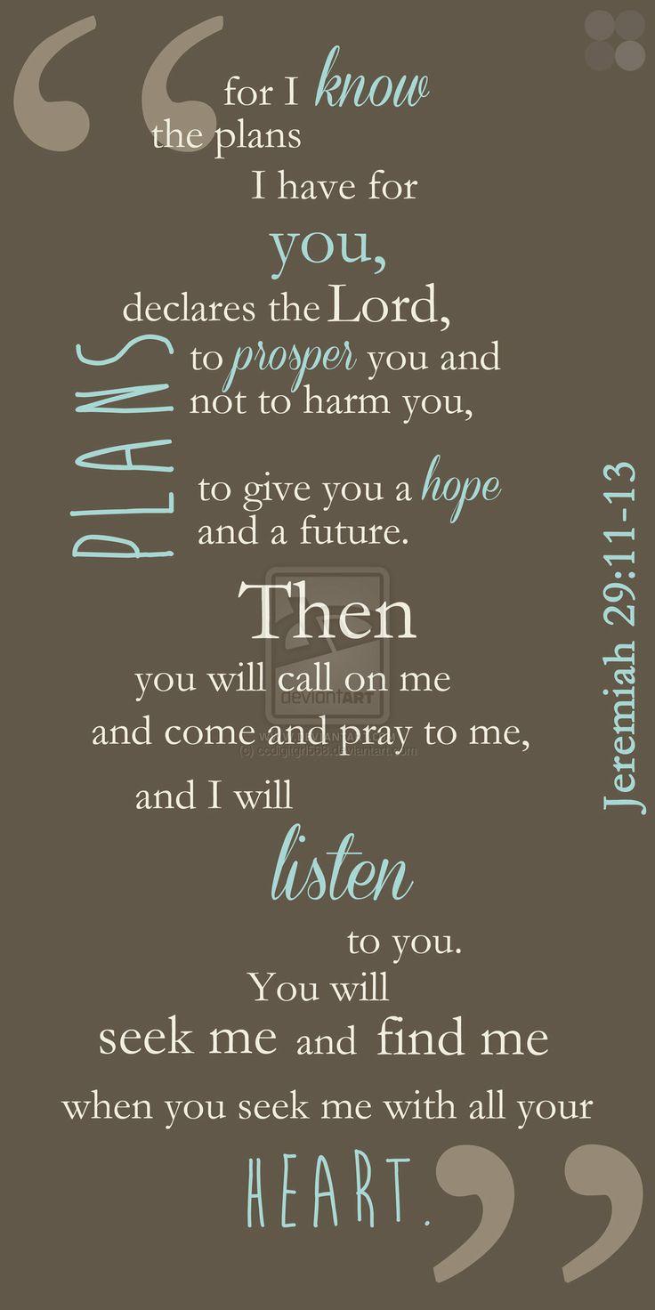 Jeremiah 29:11-13 by ccdigitgrl568.deviantart.com on @deviantART