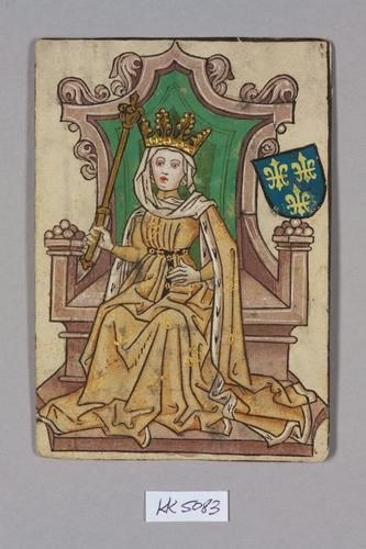 Queen, House of Anjou.  Marie of Anjou (1404-63) was Queen of France as the wife of King Charles VII from 1422 to 1461. Marie was the eldest daughter of Louis II of Anjou, titular King of Naples, titular King of Sicily, and Yolande of Aragon, titular Queen of Aragon.