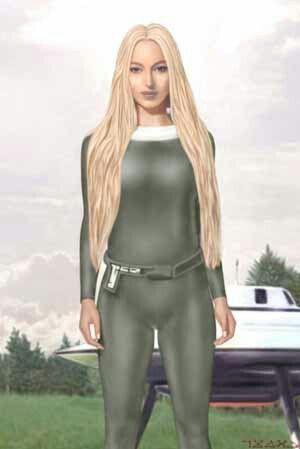 This is painting of the Pleiadian woman. Billy Meier met...Senjase...