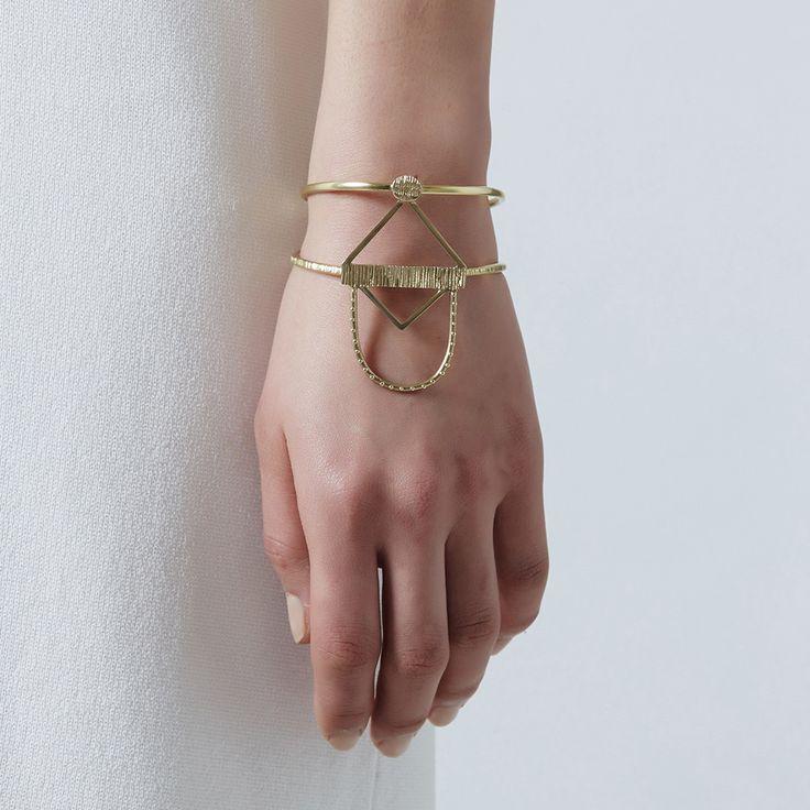 Scarab cuff bangle, brass $270