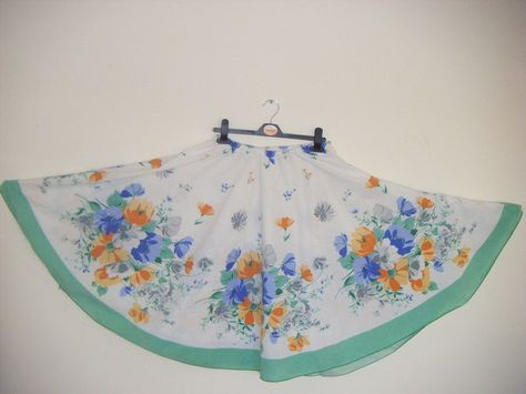 How To Make A Full Circle Skirt From A Tablecloth! By Minnie Burton ∙ How To by Minnie B on Cut Out + Keep